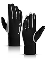 cheap -Winter Bike Gloves / Cycling Gloves Windproof Warm Wearable Stretchy Full Finger Gloves Sports Gloves Fleece Black for Adults Cycling / Bike Activity & Sports Gloves
