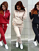 cheap -Women's 2-Piece Tracksuit Sweatsuit 2pcs Pullover Running Fitness Jogging Windproof Breathable Soft Sportswear Athletic Clothing Set Long Sleeve Activewear Micro-elastic Regular Fit