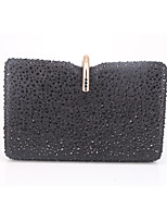 cheap -Women's Chain Alloy Evening Bag Solid Color Black / Blushing Pink / Gold