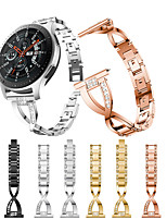 cheap -Smartwatch Band for Samsung Galaxy 46 / Gear S3 /S3 classic /S3 Frontier / Gear 2 R380/ 2 Neo R381/ sport Band  High-end Fashion Jewelry Design Stainless Steel Wrist Strap 22mm