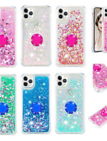 cheap -Case For Apple iPhone 11 / iPhone 11 Pro / iPhone 11 Pro Max Flowing Liquid / Ring Holder / Pattern Back Cover Solid Colored / Glitter Shine TPU for X XS XR XS MAX 8 8plus 7 7plus 6 6S 6plus 6Splus