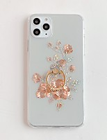 cheap -Case for Apple scene map iPhone 11 11 Pro 11 Pro Max X XS XR XS Max 8 Golden rose pattern inner and outer plating ring bracket TPU material IMD process all-inclusive mobile phone case