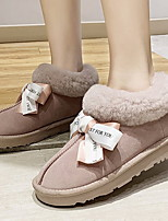 cheap -Women's Boots Flat Heel Round Toe Suede Booties / Ankle Boots Fall & Winter Black / Pink / Beige