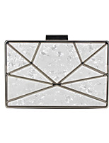 cheap -Women's Glitter / Chain Acrylic Evening Bag Plants White / Champagne / Red