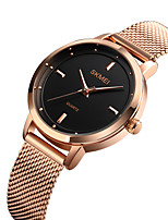 cheap -SKMEI Women's Quartz Watches New Arrival Elegant Black Silver Rose Gold Stainless Steel Chinese Quartz Black Rose Gold Silver Water Resistant / Waterproof Casual Watch 30 m Analog