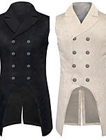abordables -Docteur de la peste Victoriens Steampunk Gilet Paisley Coletes Homme Costume Noir / Blanche Vintage Cosplay Soirée Halloween