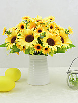 cheap -1 Branches Sunflower Artificial Flowers Home Decoration Wedding Supply