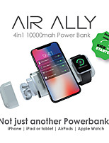 cheap -AirAlly Apple 4-in-1 10000mAh Power Solution iPhone AirPods iPads and Apple Watch All Charge In One Mobile Device