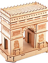 cheap -3D Puzzle Wooden Puzzle Arc de Triomphe Simulation Hand-made Wooden 95 pcs Kid's Adults' All Toy Gift