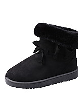 cheap -Women's Boots Flat Heel Round Toe Suede Booties / Ankle Boots Winter Black / Brown / Almond