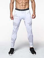 cheap -JACK CORDEE Men's Compression Pants Cycling Pants Polyester Bike Bottoms Breathable Quick Dry Sweat-wicking Sports White Mountain Bike MTB Road Bike Cycling Clothing Apparel Form Fit Bike Wear