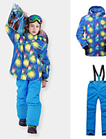 cheap -Phibee Boys' Ski Jacket with Pants Skiing Camping / Hiking Winter Sports Windproof Warm Winter Sports Polyester Warm Top Warm Pants Clothing Suit Ski Wear / Patchwork