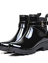 cheap -Women's Boots Low Heel Round Toe PU Mid-Calf Boots Winter Black / Burgundy / Blue