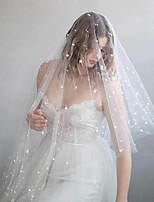 cheap -One-tier Classic Style / Lace Wedding Veil Fingertip Veils with Solid / Pattern POLY / Lace