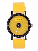 cheap -Women's Quartz Watches Casual Elegant Yellow PU Leather Chinese Quartz Yellow Casual Watch 1 pc Analog One Year Battery Life