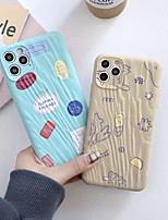 cheap -Case For Apple iPhone 11 / iPhone 11 Pro / iPhone 11 Pro Max Shockproof Back Cover Lines / Waves / Cartoon TPU