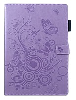 cheap -Case For Apple iPad Air / iPad 4/3/2 / iPad (2018) Wallet / Card Holder / with Stand Full Body Cases Butterfly / Solid Colored PU Leather