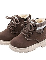 cheap -Boys' Snow Boots PU Boots Little Kids(4-7ys) Black / Gray / Khaki Winter / Booties / Ankle Boots
