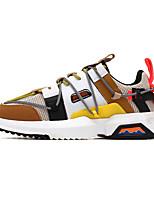 abordables -Homme Chaussures de nouveauté Polyuréthane Printemps été / Automne hiver Sportif / Preppy Basket Course à Pied / Marche Chaud Noir / Blanche / Gris