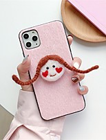 cheap -Case For Apple iPhone 11 / iPhone 11 Pro / iPhone 11 Pro Max Pattern Back Cover / Full Body Cases Cartoon Textile for iPhone 6  6 Plus  6s 6s plus 7 8 7 plus 8 plus X XS XR XS MAX