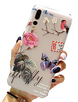 cheap -Case for Huawei scene map Huawei P30 P30 Lite P30 Pro Butterfly and flower pattern painted embossed matte TPU material all-inclusive mobile phone case
