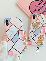 cheap -Case For Apple iPhone 11 / iPhone 11 Pro / iPhone 11 Pro Max Plating / Pattern Back Cover Marble TPU X XS XSmax XR 6 6plus 6splus 6s 7 7plus 8 8plus