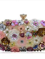 cheap -Women's Beading / Embroidery Silk Evening Bag Solid Color Rainbow