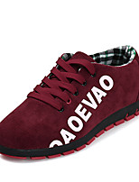 cheap -Men's Comfort Shoes Canvas Fall / Spring & Summer Casual Sneakers Walking Shoes Breathable Black / Red / Blue
