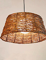 cheap -QIHengZhaoMing Pendant Light Metal Wood / Bamboo 110-120V / 220-240V