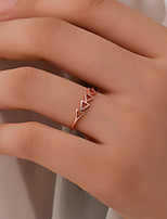 cheap -Women's Couple Rings Ring Adjustable Ring Rose Gold White Copper Gift School Jewelry