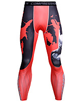 cheap -JACK CORDEE Men's Compression Pants Cycling Pants Polyester Bike Bottoms Breathable Quick Dry Sweat-wicking Sports Camo / Camouflage Red / Blue / Grey Mountain Bike MTB Road Bike Cycling Clothing