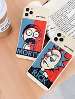 cheap -Case for Apple scene map iPhone 11 11 Pro 11 Pro Max X XS XR XS Max 8 Cartoon text pattern Quicksand Thicken Frosted TPU Texture All-inclusive phone case
