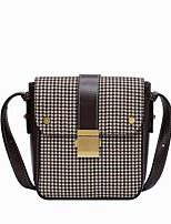 cheap -Women's Zipper / Chain PU Crossbody Bag Lattice Black / Brown / Coffee