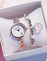 cheap -Women's Quartz Watches New Arrival Fashion Silver Rose Gold Stainless Steel Chinese Quartz Rose Gold White+Silver Gold Pink Chronograph Hollow Engraving New Design 2pcs Analog One Year Battery Life
