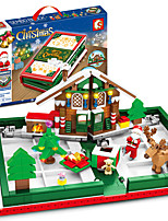 cheap -Building Blocks 635 pcs Snowman Santa Claus Christmas Santa Suits compatible Legoing Simulation All Toy Gift / Kid's