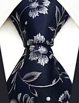 cheap -Men's Party / Work / Basic Necktie - Floral / Geometric / Jacquard