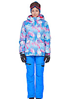 cheap -Phibee Women's Ski Jacket with Pants Skiing Camping / Hiking Winter Sports Windproof Warm Winter Sports Poly&Cotton Blend Warm Top Warm Pants Clothing Suit Ski Wear