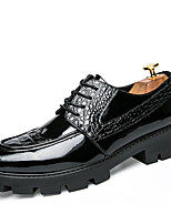 cheap -Men's Leather Shoes Leather Spring / Fall Business / Casual Oxfords Walking Shoes Non-slipping Black