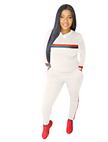 cheap -Women's 2-Piece Tracksuit Sweatsuit 2pcs Pullover Running Fitness Jogging Sportswear Windproof Breathable Soft Athletic Clothing Set Long Sleeve Activewear Micro-elastic Regular Fit