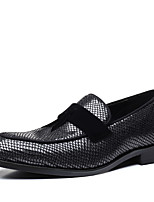 cheap -Men's Formal Shoes Faux Leather Spring & Summer / Fall & Winter Business / Classic Loafers & Slip-Ons Breathable Black / Silver / Tassel / Party & Evening