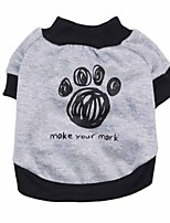 cheap -Dog Shirt / T-Shirt Dog Clothes Gray Costume Polyster Patchwork Cosplay XS S M L
