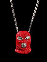 cheap -Men's Pendant Necklace Chain Necklace Statement Necklace Cuban Link Face Helmet Statement Punk European Trendy Copper Chrome Red 70 cm Necklace Jewelry 1pc For Club / Long Necklace