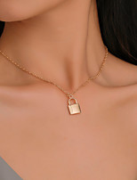 cheap -Men's Women's Choker Necklace Pendant Necklace Copper White Gold 38 cm Necklace Jewelry For Halloween Prom Street Club