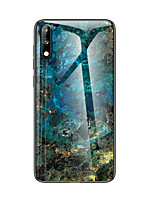 cheap -Marble Tempered Glass Phone Case For Huawei P30 Pro P30 Lite P20 Pro Mate 20 Pro X P Smart 2019 Honor 9X Pro 20 Pro Y9 Y6 Y7 2019 V30 V20 V10 Shockproof Back Cover Soft TPU edge Protection