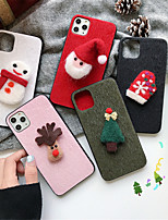 cheap -Case For Apple iPhone 11 / iPhone 11 Pro / iPhone 11 Pro Max Pattern Back Cover Christmas Textile for iPhone 6  6 Plus  6s 6s plus 7 8 7 plus 8 plus X XS XR XS MAX