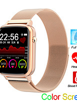 cheap -Smartwatch Digital Modern Style Sporty Silicone 30 m Water Resistant / Waterproof Heart Rate Monitor Bluetooth Digital Casual Outdoor - Black Black / Gray Gold