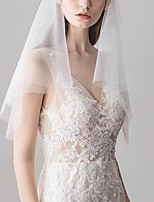cheap -One-tier Classic Style / Lace Wedding Veil Elbow Veils with Solid POLY / Lace