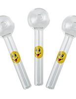 cheap -YUHETEC Smiling Face Shisha Hookah Pipes Glass Tube 2PCS