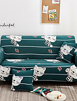 cheap -Green Cartoon Tiger Print Dustproof All-powerful Slipcovers Stretch Sofa Cover Super Soft Fabric Couch Cover with One Free Pillow Case