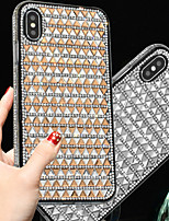 cheap -Case For Apple iPhone 11 / iPhone 11 Pro / iPhone 11 Pro Max Shockproof / Rhinestone Back Cover Solid Colored Silicone